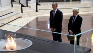 Barack Obama en el Museo del Holocausto