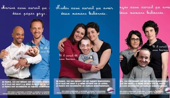 Campaña de SOS Homophobie