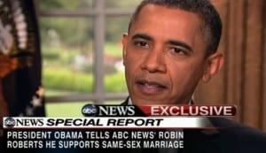 Obama apoya el matrimonio gay