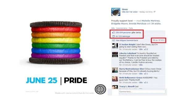 Oreo Pride Facebook