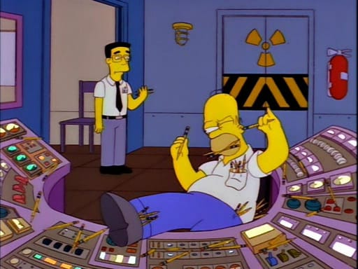 homer working