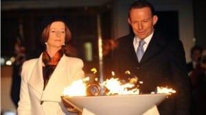 Primera Ministra Julia Gillard y líder opositor Tony Abbott