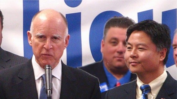 Jerry Brown Ted Lieu