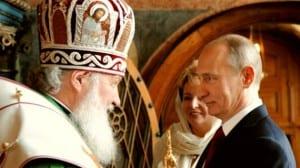 Vladimir Putin y Cirilo I de Moscú