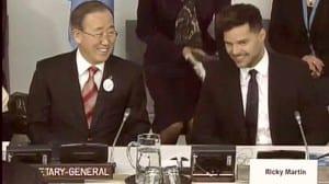 Ban Ki-Moon Ricky Martin
