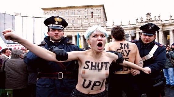 Femen Ángelus Vaticano