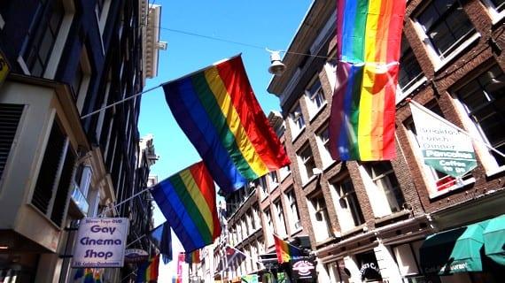Ámsterdam bandera gay Putin