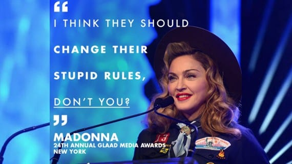Madonna Scouts GLAAD