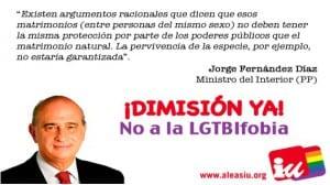 Ministro Fernández Díaz homófobo