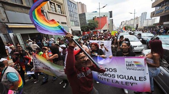 Venezuela LGBT marcha