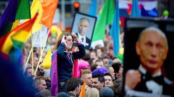 Putin Ámsterdam homofobia