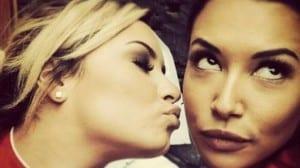 Glee Demi Santana beso