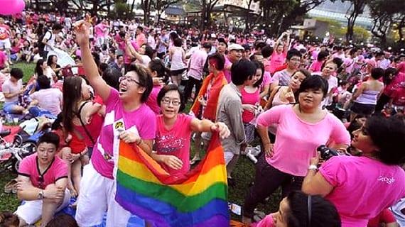 Marcha PinkDot por los derechos LGBT (Singapur - junio 2013)