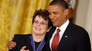 Billie Jean King Obama