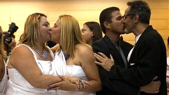 Brasil boda colectiva gay