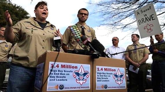 Boy Scout jóvenes gays