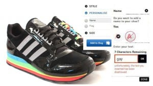 Adidas personalización gay