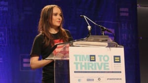 Ellen Page outing HRC