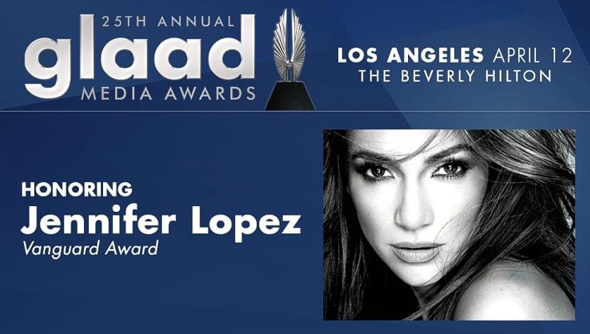 Jennifer López GLAAD Vanguard