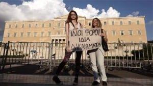Parlamento griego uniones civiles