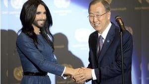 Conchita Wurst Ban Ki-moon