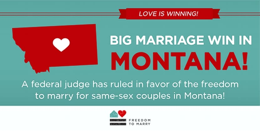 Montana matrimonio gay