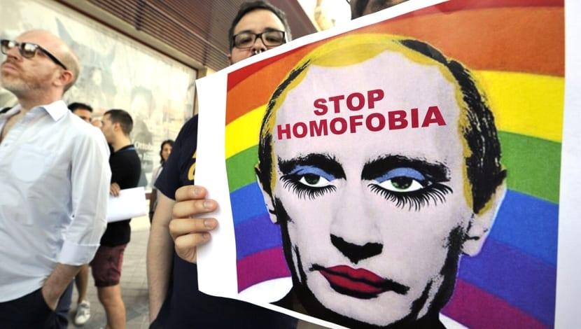 Putin homofobia Rusia